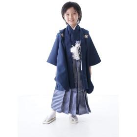七五三 着物 男の子 セット 袴 ネイビー 無地 シンプル 紋付 紋付袴 羽織袴セット はかま フルセット 5歳 5才 五歳 着物セット 販売