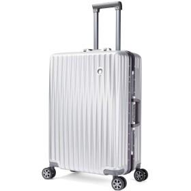 Langxj hj キャリーケース スーツケース TSAロック搭載 旅行 出張 大容量 復古主義 8輪 超軽量 機内持込可J6018 (S, シルバー)