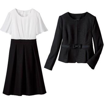 60%OFF【レディース大きいサイズ】 フォーマルアンサンブル(セレモニースーツ) - セシール ■カラー:ブラック ■サイズ:19ABR