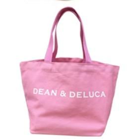 DEAN&DELUCA ディーン&デルーカ トートバッグ エコバッグ ファッション ミセスファッション レディース シニア 軽量 ギフト お洒落 シンプル 人気 プレゼント (M, ピンク) [並行輸入品]