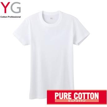 GUNZE グンゼ YG(ワイジー) クルーネックTシャツ(メンズ)【SALE】 ホワイト LL