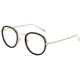 (ジ―オ―)JO伊達メガネ メンズ レディース フルリム 丸型 度なし メガネ 眼鏡 メルト フレーム ファッション おしゃれ JO5118 ブラック