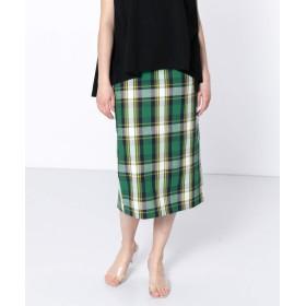 [センスオブプレイス] スカート チェックアイラインスカート レディース GREEN M