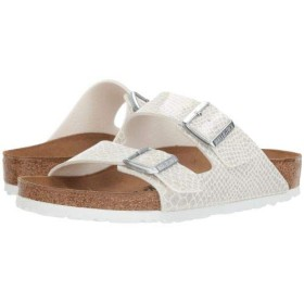 Birkenstock(ビルケンシュトック) レディース 女性用 シューズ 靴 サンダル Arizona Snake - White Birko-Flor(TM) 42 (US Women's 11-11.5) Regular [並行輸入品]