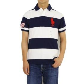 (ポロ ラルフローレン) POLO Ralph Lauren カスタムフィット メンズ ビッグポニー 国旗 ポロシャツ CUSTOM FIT 0105497 [並行輸入品]