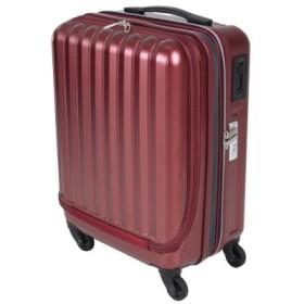 (Bag & Luggage SELECTION/カバンのセレクション)バウンドリップ スーツケース 機内持ち込み Sサイズ 拡張 フロントオープン ストッパー付き 35L-43L BOUNDRIP BD33/ユニセックス レッド