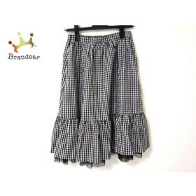 エムズグレイシー M'S GRACY スカート レディース 美品 黒×白 ギンガムチェック柄  値下げ 20190904