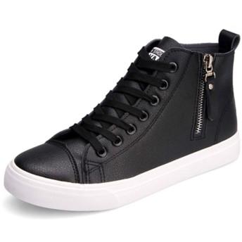 白 スニーカー レディースカジュアルシューズ 立ち仕事 35(22.5CM) 36(23.0CM) 37(23.5CM) 38 24cm 39 24.5cm 40 25cm デッキシューズ 白の靴 キャンバス 紳士 黒 白 定番シューズ 24.0cm カジュアル靴 シューズ ブラック ブラック(インヒール) 白