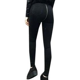 chenshiba-JP 女性の伸縮性デニムパンツをプッシュバックジッパージーンズのズボン 2 XS