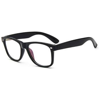 [FREESE] 伊達メガネ クラシックデザイン ブルーライトカット PCメガネ ウェリントン 黒縁 伊達眼鏡 メンズ 【福岡発のアイウェアブランド FREESE】(マットブラック)