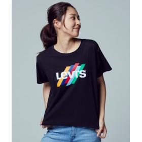 Levi's グラフィックプリントTシャツ レディース ブラック