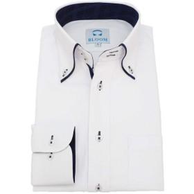(ブルーム) BLOOM オリジナル 長袖 ワイシャツ 形態安定 ネイビーチェック 1 S
