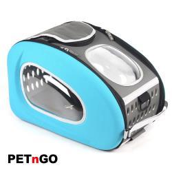 PETnGO多功能拉桿寵物太空背包-藍色