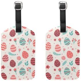 花の 卵 ラゲージタグ ネームタグ レザー 荷物タグ スーツケース ラベル おしゃれ 旅行 アクセサリー 旅行タグ 2枚入り