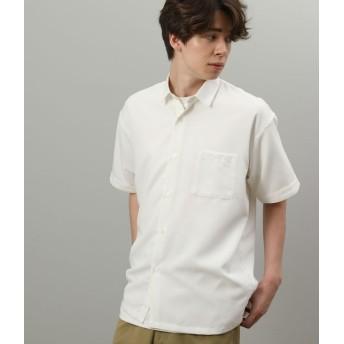 ジュンレッド/カチオンレギュラーカラー半袖シャツ/ホワイト/L
