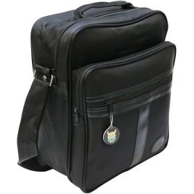 [ビップライン]VIP LINE ショルダーバッグ メンズ ビジネス 縦型 A4 &ジッパープルセット VL-1050 (ブラック)