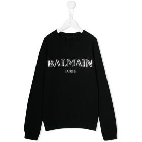 Balmain Kids ロゴ スウェットシャツ - ブラック