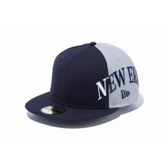 【ニューエラ公式】 59FIFTY 2トーン ニューエラ ネイビー グレー × スノーホワイト ミッドナイトネイビー メンズ レディース 8 (63.5cm) キャップ 帽子 12109135 NEW ERA
