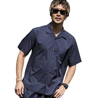 (アドミックス アトリエサブメン) ADMIX ATELIER SAB MEN メンズ シャツ 半袖 T Cストレッチオープンカラー半袖シャツ 02-04-8582 50(L) ネイビー(40)