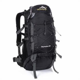 Phoenix Ikki 40L 軽量 撥水加工 通気性良 男女兼用 アウトドア ハイキング 旅行 登山ザック リュックサック バックパック デイパック レインカバー付き ブラック