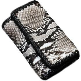 パイソン革 使用 本革 キーケース 財布 ショートウォレット 牛革 メンズ レディース ダイヤモンドパイソン 蛇革 ヘビ革