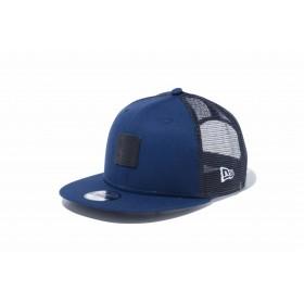 【ニューエラ公式】キッズ 9FIFTY トラッカー キャンバス ナイトブルー ブラックレザーパッチ 男の子 女の子 52 - 55.8cm キャップ 帽子 12108317 NEW ERA メッシュキャップ