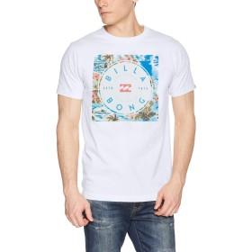 [ビラボン] [メンズ] 半袖 プリント Tシャツ (レギュラーFIT)[ AJ011-203 / SQUARE BOX LOGO TEE ] おしゃれ ロゴ WHT_ホワイト US L (日本サイズL相当)