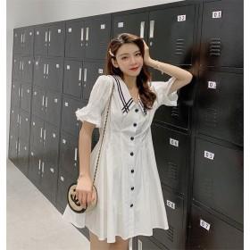 限定発売 高品質で 韓国ファッション 小さい新鮮な sweet系 ミニスカート ウエスト スリム ワンピース 女性 ロングセクション 2019 夏 新着 カジュアル カジュアル ミニスカート カ