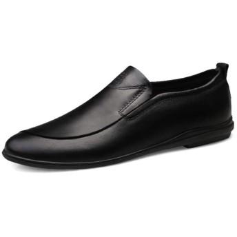 [Jusheng-shoes] メンズシューズ メンズカジュアルシューズ カジュアルシューズ (色 : 黒, サイズ : 41)