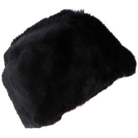 Baoblaze 毛皮の帽子 コサックの帽 男女用 ふわふわ 冬のキャップ スキー ツアー 全2色  - ブラック
