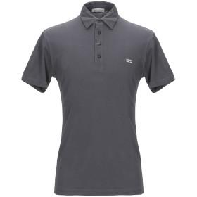 《セール開催中》DANIELE ALESSANDRINI HOMME メンズ ポロシャツ スチールグレー M コットン 100%
