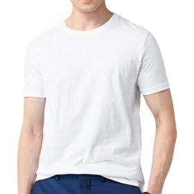 GOMY tシャツ インナーシャツ メンズ 丸首 クルーネック 綿100% 薄手 抗菌防臭加工 4カラー/165-190cm対応 ベーシック 夏服 半袖 無地 大きいサイズ