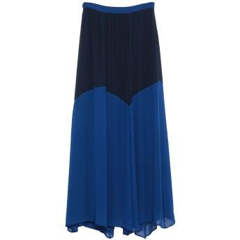 《セール開催中》TRU TRUSSARDI レディース ロングスカート ブルー 40 シルク 100%