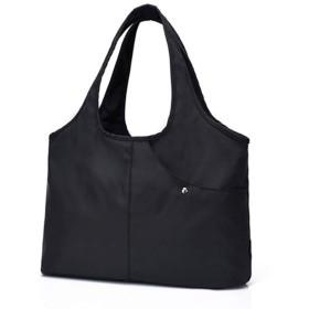 マザーズ バッグ トートバッグ ママバッグ 2way ショルダー バッグ 大容量 軽量 防水 多機能 人気 おしゃれ ハンドバッグ (ブラック)