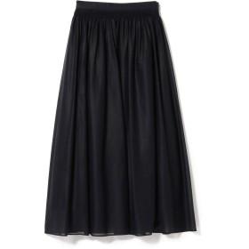 (デミルクス ビームス)Demi-Luxe BEAMS スカート コットンボイル ロングスカート レディース ネイビー 36