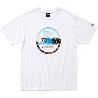 オンスポッツ別注 (ニューエラ) NEW ERA Tシャツ CITY LANDSCAPE ホワイト M