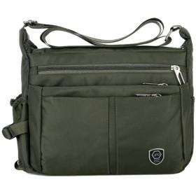 YoungMax ショルダーバッグ メッセンジャーバッグ メンズ バッグ 2Way 肩掛けバッグ ビジネス トートバッグ カバン カジュアル 防水 軽量 旅行 4色 (ダークグリーン)
