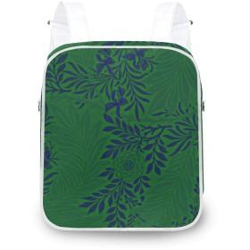 鮮やかな緑および青 レディース 2way リュック トートバッグ 通勤 ショルダー きれいめ おしゃれ 大容量 かわいい a4 通学 バックパック お出かけ