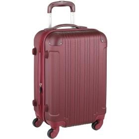 スーツケース キャリーケース キャリーバッグ ■安心1年保証■ M サイズ 当店人気 カラフル キャリーバック 4日 5日 6日 7日 中型 TSAロック ハードキャリー ジッパー 拡張ファスナー 5082-60 全サイズ 有り ワインレッド