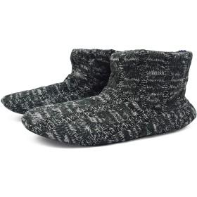 KOI[コイ] ルームシューズ メンズ あったかい ボア ブーツ スリッパ 履きやすい 丸洗いOK 自宅/会社用