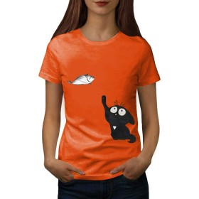 Top Homie レディース Tシャツ かわいい 猫柄 トップス 半袖 ストレッチ ラウンドネック 大きいサイズ カジュアル ねこ トップス