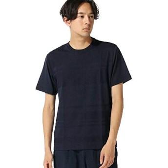 ナノ・ユニバース(nano・universe) :リンクスボーダークルーネックTシャツ SS L ネイビー nano・universe