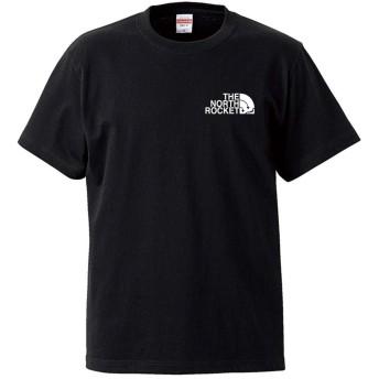 (ザ・ノース・ロケット)THE NORTH ROCKET 半袖 Tシャツ ブラック 5XL ロゴ小