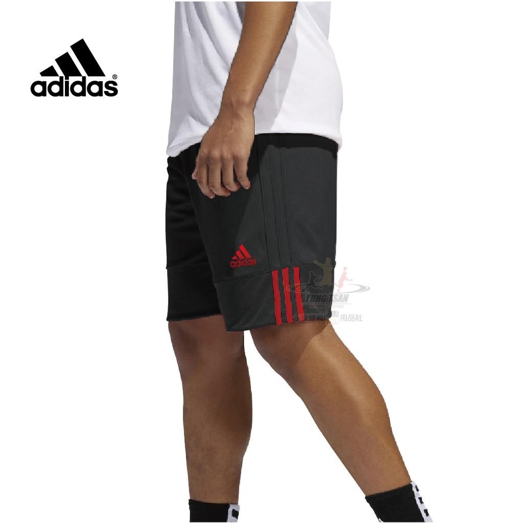 Adidas 籃球褲 紅黑 雙面穿 愛迪達 雙面球褲 團體球褲 男籃球褲 籃球 球褲 DY6596 永璨