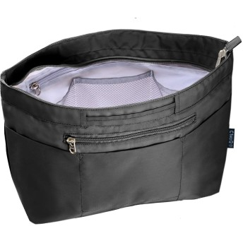 C two Q バッグインバッグ インナーバッグ 軽量 自立 大容量 収納 バッグ レディース メンズ (Mサイズ, 2.ブラック)