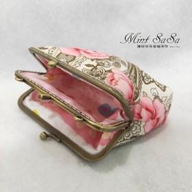 MintSaSa ロマンチックなローズ二重層の金の袋は、背中の肩を縫った綿の財布の財布二層の財布の布を後ろに傾けることができま