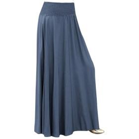 レディース スカート Rexzo 無地 大きいサイズ ヴィンテージスカート Aライン ひざ下 シンプル プリーツ スカート 体型カバー ウエストゴム 柔らか生地 ふんわりパニエ 着心地 通勤 結婚式 入学式