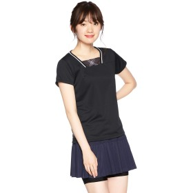 [プリンス] テニスウェア ゲームシャツ WL9054 [レディース] ブラック (165) 日本 M (日本サイズM相当)