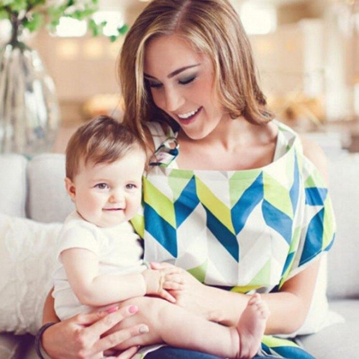 美國Mothers Lounge Udder Cover 美型哺乳巾藍綠山紋