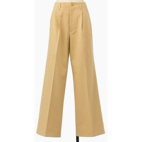 <AURALEE/オーラリー> WASHED FINX CHINO WIDE TUCK PANTS(A9AP02CN) LIGHT BE【三越・伊勢丹/公式】